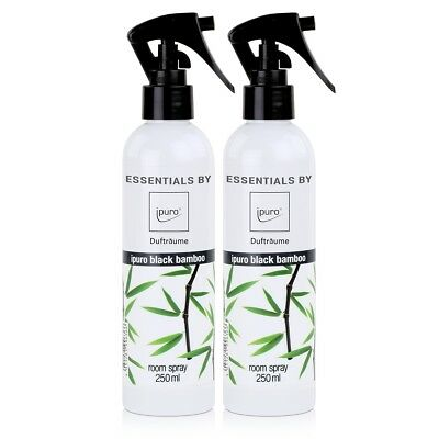 Essentials by ipuro Dufträume Raumspray black bamboo Duftspray 250ml (2er Pack)
