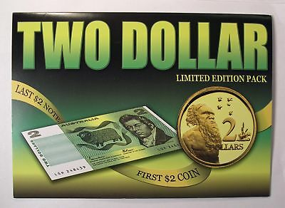 1988 Australia $2 FIRST COIN LAST BANKNOTE set