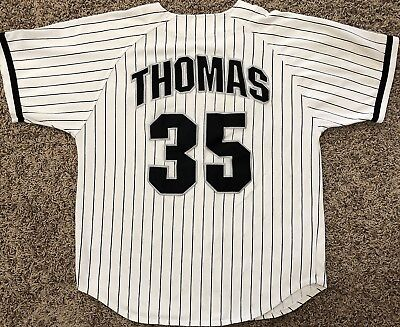 d4820ede ... order frank thomas vintage starter chicago white sox pinstripe jersey  adult large 47ac5 1b409