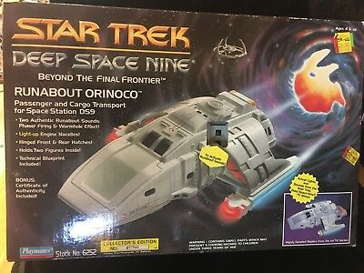 1994 STAR TREK Deep Space Nine RUNABOUT ORINOCO DS9 Ship Playmates 6252 WORKS