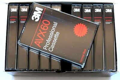 3M Avx 60 Professional Normal Position Type I Blank Audio Cassette