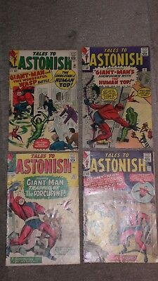 Tales To Astonish #50, 51, 53, 54 1963-64 Original Key Book Movie Ant Man Lot FS