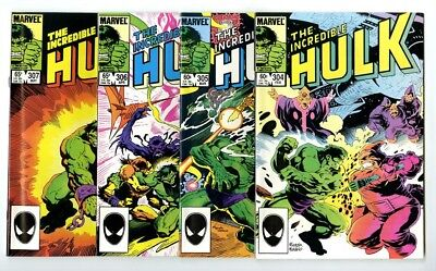 Incredible Hulk #304,305,306,307 Avg NM New Marvel Bronze Copper Collection