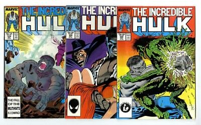 Incredible Hulk #334,335,338 Avg NM- to NM New Marvel Bronze Copper Collection