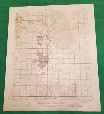 A Great 1946 Lawton, Oklahoma United States Geological Survey Map USGS!