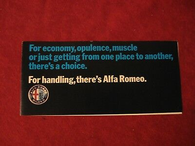 1971 Alfa Romeo Original Showroom Dealership Brochure Old catalog Book