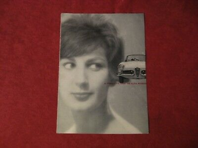 1960? Alfa Romeo Original Showroom Dealership Brochure Old catalog Book