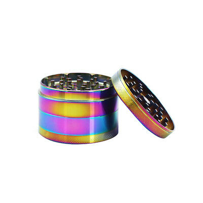 Herb/Spice Alloy Smoke 4 Piece Crusher 40mm Colourful Tobacco Grinder Rainbow M2