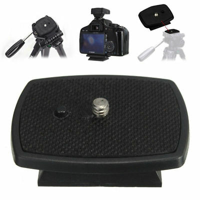 For DSLR SLR Camera Tripod 1x Black Quick Release Plate Screw Adapter Mount Head