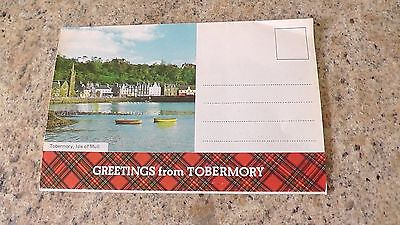 Old LETTER CARD-TOBERMORY-5 Postcard Sized Views-Isle Of Mull-Scotland.