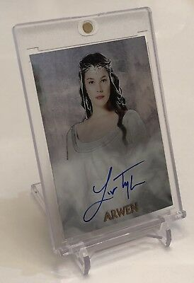Liv Tyler Arwen Topps Chrome Lord Of The Rings Fellowship Autograph Auto Card Sp