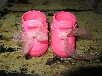 Vintage galoob Loving Laura Baby Face Doll pink Heart Shoes replacements sneaker