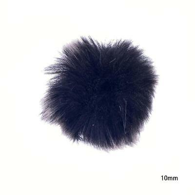 Black Fur Windshield Wind Muff for Lapel Lavalier Microphone Mic s