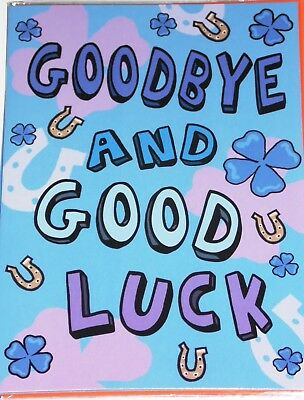 GOODBYE & GOOD LUCK x 12, JUST 29p, CODE 75, FOILED ( B259