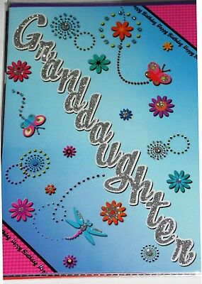 GRANDDAUGHTER BIRTHDAY CARDS x 12, JUST 29p, CODE 75, FOILED ( B434