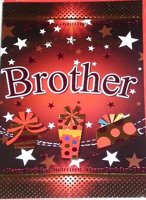BROTHER BIRTHDAY CARDS x 12, JUST 29p, CODE 75, FOILED ( B70