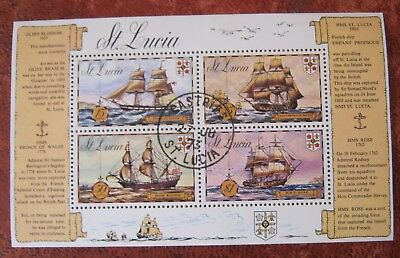 St. Lucia 1973 Historic Ships MS Used