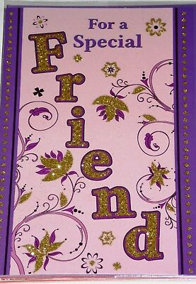 FRIEND BIRTHDAY CARDS x 12, JUST 29p, CODE 75, FOILED ( B263