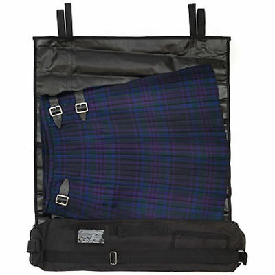 Mens J. Wood Black Kilt Roll Kilt Carrier