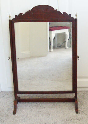 Large Georgian Mahogany Toilet mirror with brass furniture