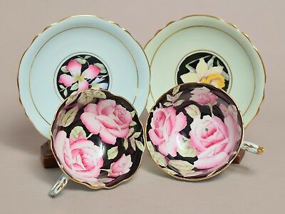 Very Attractive Vintage Paragon Tea Cups And Saucers, Roses Etc