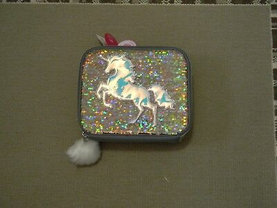 Nwt Justice Girls Unicorn Gold Flip Sequin Lunch Tote