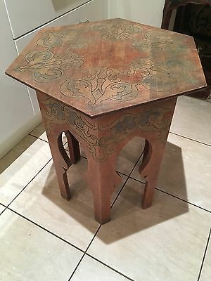 Antique Vintage Art Nouveau Moorish Islamic Design Table