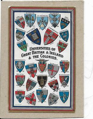 Shields of Universities, GB, Ireland and the Colonies, old postcard