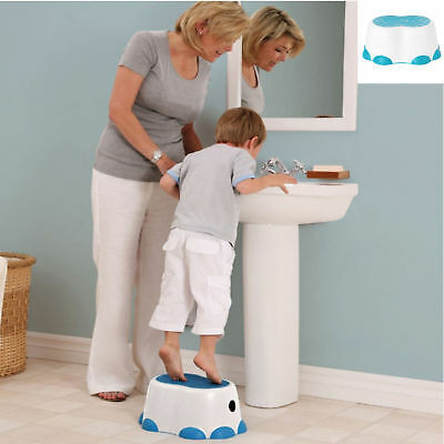 New Bumbo Step Stool Blue Encourages Independence Slip Proof Multipurpose