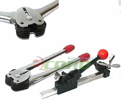 2pc Poly Strapping Banding Tool Machine Tensioner Crimper Set Sealer Packaging