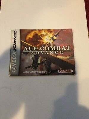Ace Combat Advance Instruction Manual Booklet Only Nintendo Gameboy Advance