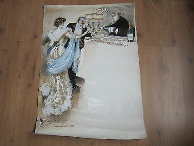 Vieille affiche champagne perrier-jouet ,A.GUILLAUME