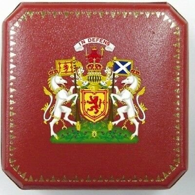 UK Royal Scotland Scottish Lion King Family Clan Crest Coin Medal Case Award Box