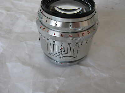 Carl Zeiss Jena Sonnar 1:2  f=8,5cm T Contax RF Mount lens