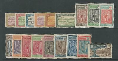 Cameroun - French, Postage Stamp, #170//198 Mint Hinged, 1925-38, JFZ