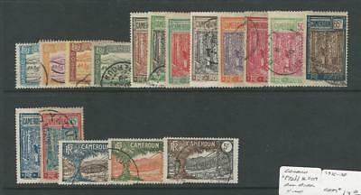 Cameroun - French, Postage Stamp, #172//209 Used, 1925-38, JFZ