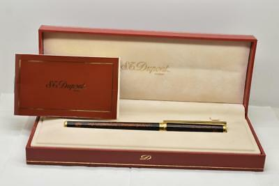 Vintage ST DUPONT Rollerball Pen Lacquer de Chine Gold Dust Cap and Barrel