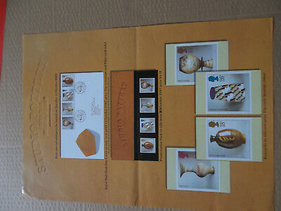 Royal Mail A3 Post Office Poster 1987 Studio Pottery Hans Coper Lucie Rie Fdc