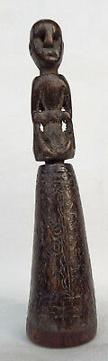 INDONESIAN TIMOR BUFFALO HORN BETELNUT CONTAINER ARTIFACT late 20th C