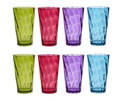 New 20-ounce Plastic Tumblers|set of 8 in 4 Colors Cups|Break-resistant drinking