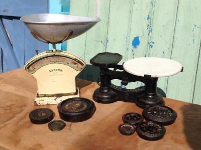 Antique JAS Garland Cheese Scales, Salter No.30c Scales, Sheldon Weights JOB LOT