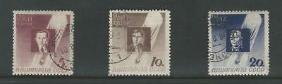 Russia, Postage Stamp, #C50-C52 Used, 1934 Airmail, JFZ