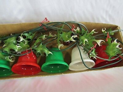 Vintage Timco 7 Bell Twinkling Garland Christmas Decoration Original Box