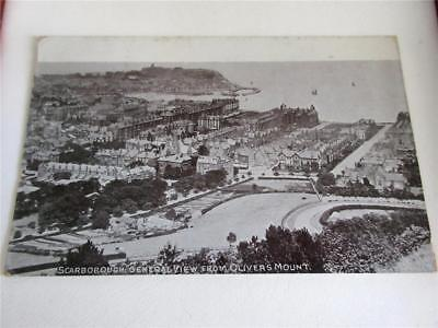 SCARBOROUGH VIEW FROM OLIVERS MOUNT - REAL PHOTO RP POSTCARD c1913!