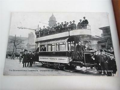 THE SCARBOROUGH TRAMWAYS, Opened May 6th 1904 POSTCARD!