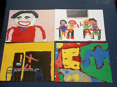 Set Of 4 Post Office Royal Mail Postcards 3/89 Childrens Paintings Winners