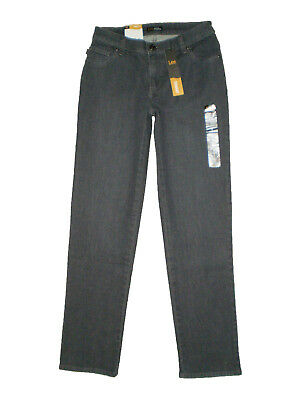 c520b01e LEE Women's Relaxed Fit Mid Rise Straight Leg Jean, Spade Gray, Size 4,