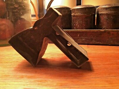 Vintage Old Flat Back w/strap Metal Hatchet /Axe Cookie Cutter ~ Deep Edge