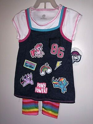 NWT My Little Pony Girls 2pc Capri Outfit Sz 2T