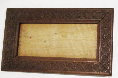 Antique Carved Small Rectangular TableTop Wooden Frame